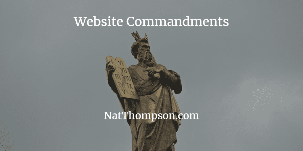 Ten Website Commandments