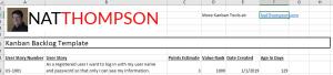 Excel Kanban Backlog Template